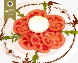 Tomatoes with Buratta