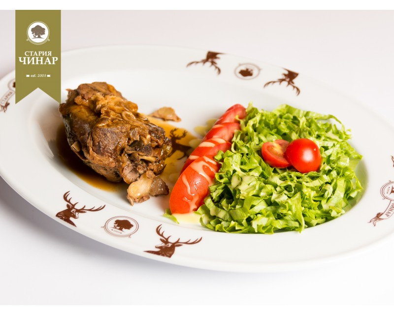 Oven roasted lamb