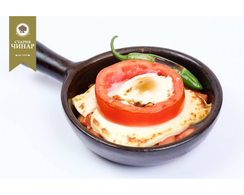 Cheese in clay pot