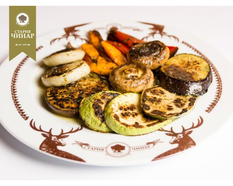 grilled vegetable palette