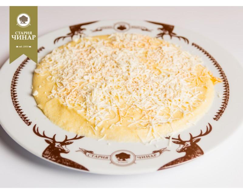 Качамак с масло и бяло сирене